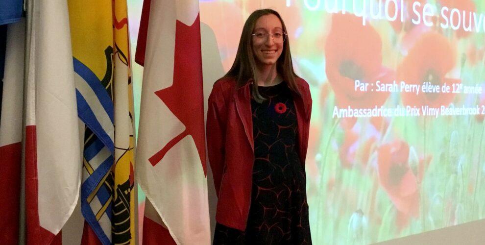 La Cyclone Sarah Perry a offert une présentation intitulée «Pourquoi se souvenir» en novembre.